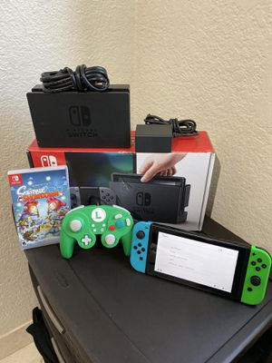 Nintendo Switch SCREEN PROTECTOR SCRIBBLE GAME REMOTE HDMI CABLE CHARGER FIRM $250 no trade for Sale in Stockton, CA