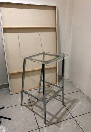 Chiaro clear stool nickel for Sale in Miami Beach, FL