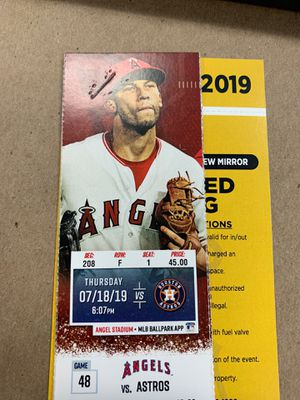 Angels VS Astros tonight for Sale in Lakewood, CA