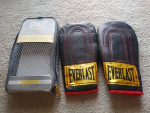 Everlast Black Leather Advanced Speed Bag Gloves Model 43086 Size L/XL Boxing for Sale in Palmdale, CA
