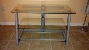 """TV Stand - Solid Iron/Glass up to 75"""" for Sale in Sebring, FL"""