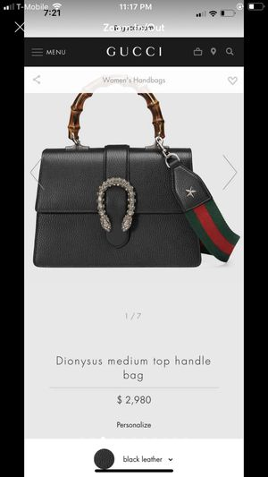 Gucci dionysus bag with two straps for Sale in Alexandria, VA