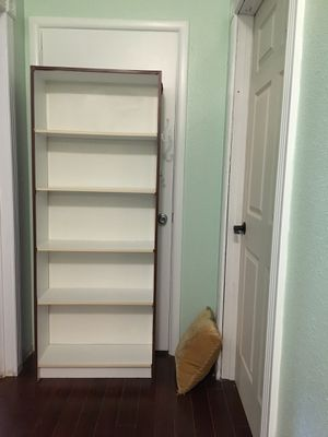 Tall White Bookcase Bookshelf with Adjustable Shelves for Sale in West Linn, OR