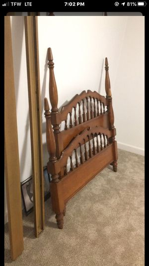Cherry Wood Bed Frame for Sale in Winston-Salem, NC