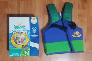 Baby Swim diaper and life jacket for Sale in Redmond, WA