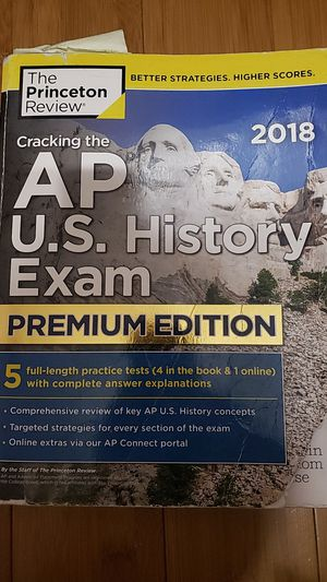 Cracking the AP U.S. History Exam Premium Edition 2018 Edition for Sale in Ontario, CA