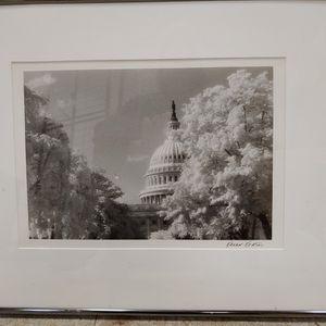 Karen Keating, Black and white Framed Photo of the Capitol for Sale in Lorton, VA