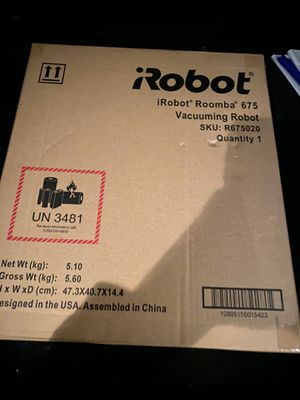 iRobot Romba 675 vacuuming robot Brand new for Sale in Sterling, VA