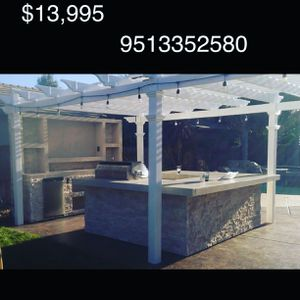 Custom Barbecue Island with Trellis for Sale in Riverside, CA