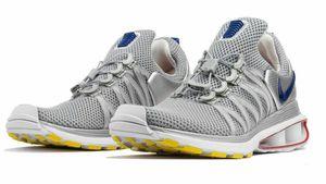 NEW Nike Shox Gravity Shoes Metallic Silver Blue Size 10.5 for Sale in Wichita, KS