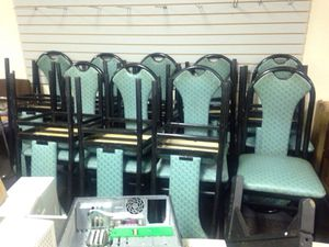 18 blue Hugh back chairs for Sale in Caledonia, MI