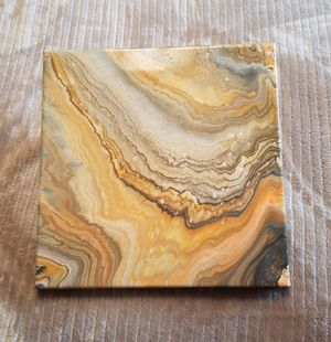 10x10 Homemade Acrylic Canvas Pour Paintings for Sale in Renton, WA