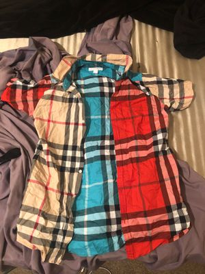 Burberry shirt size14y boys. $95 for Sale in Philadelphia, PA