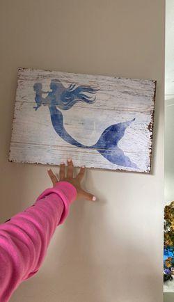 Mermaid canvas for Sale in Meridian,  ID