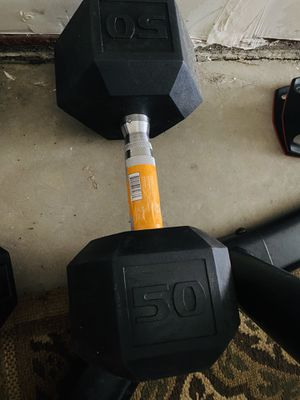 50 pounds dumbbell for Sale in Turlock, CA