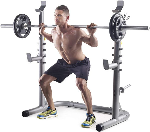 Olympic Squat rack and adjustable bench