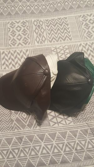 Leather adjustable caps for Sale in San Leandro, CA