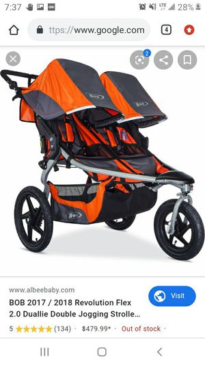 B.o.b double seated stroller for Sale in Charlotte, NC