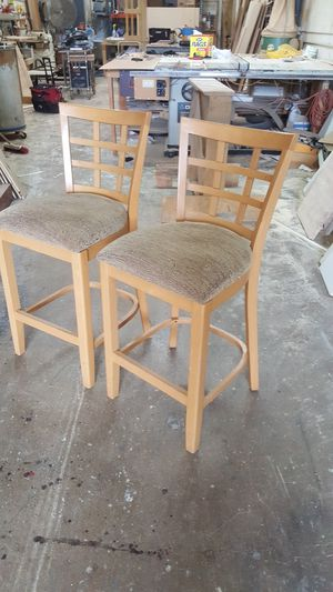 Bar chairs_solid wood for Sale in Hialeah, FL