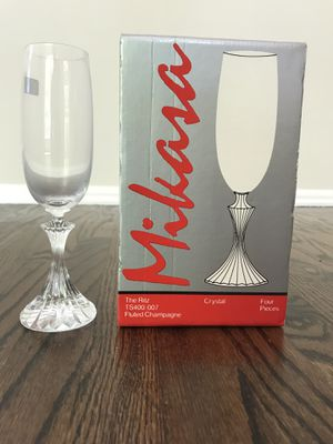 Mikasa Crystal Champagne Glass (4) for Sale in Moorestown, NJ
