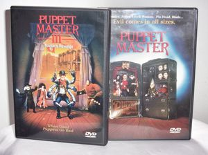 Lot (2) Horror Classic Puppet Master & Puppet Master 3 Toulons Revenge DVD for Sale in Beaumont, TX
