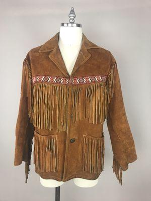 Vintage leather, fringe , suede, hand-made native, ceremonial jacket. for Sale in Portland, OR