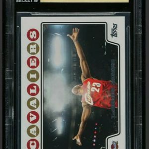2008-09 Topps Lebron James Iconic Chalk Toss Card BGS Gem Mint 9.5 Sub Grades for Sale in San Jose, CA