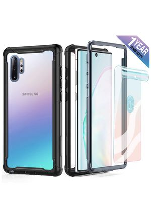 Samsung Galaxy Note 10 Plus Case Full Body Rugged Heavy Duty Clear Bumper Case with Screen Protector, Shock Drop Proof Protective Case Compatible wit for Sale in Monterey Park, CA