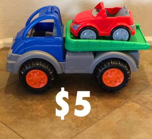 Big toy truck with car for Sale in Phoenix, AZ