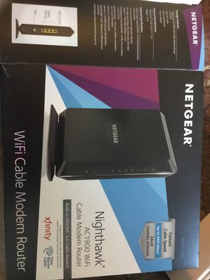 Netgear Nighthawk AC1900 WiFi cable modem router for Sale in Raleigh, NC