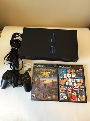 Playstation 2 ps2 system with games for Sale in Sycamore, IL