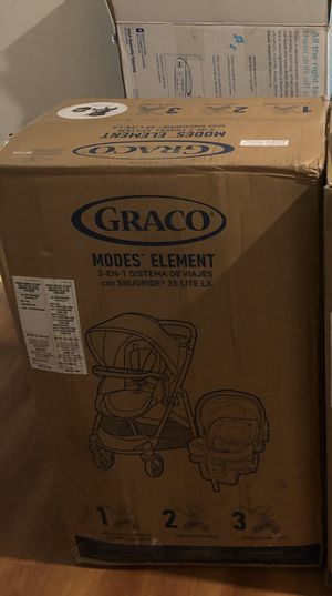 Graco Modes Element Travel System | Includes Baby Stroller with Reversible Seat, Extra Storage, Child Tray and SnugRide 35 Lite LX Infant Car Seat, A for Sale in Philadelphia, PA