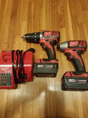 Milwaukee m18 hammer drill and 1/4 impact for Sale in Brooklyn Center, MN