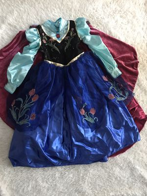 Authentic Disney Store Frozen Halloween girls costume sz 7/8 dress with cape Excellent for Sale in San Diego, CA
