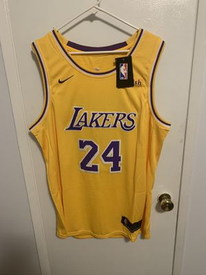 Kobe Bryant #24 yellow Los Angeles Lakers Jersey for Sale in Los Angeles, CA