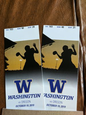 HUSKY - DUCKS Football tickets for Sale in Bothell, WA