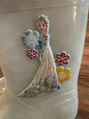 Disney frozen rain boots youth kids size 11 for Sale in Huntington Beach, CA