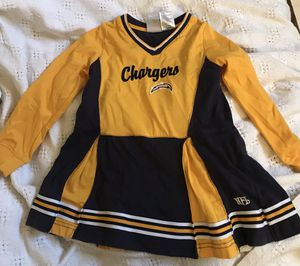 Girl's Chargers cheerleader costume dress for Sale in Vista, CA