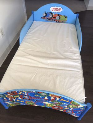 Toddler wooden bed with mattress Tomas for Sale in Denver, CO