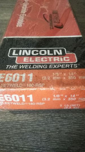 Lincoln Electric 5-lbs 1/8-in 6011 All Position Stick Electrode Welding Sticks Item # 178718 Model # ED030563 for Sale in Palmdale, CA