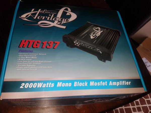 """12"""" subwoofer and 2000 watt amplifier *new in box*"""