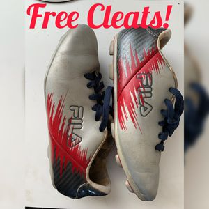 Free Boys FILA Soccer Cleats Size 3 and shin guards for Sale in Eastvale, CA