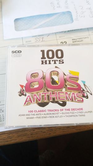 100 Hirs 80's Anthems 5 CD Set for Sale in Buena Park, CA
