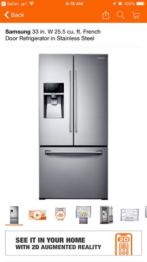 Samsung French Door Stainless Steel Refrigerator for Sale in Atlanta, GA