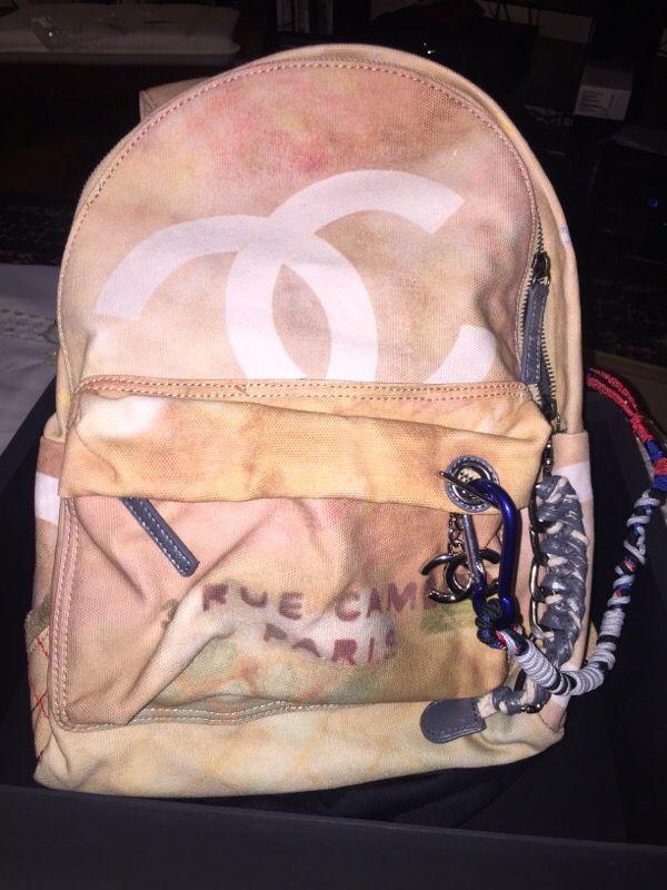 Chanel Backpack runway graffiti