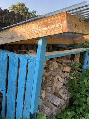 1/2 cord of seasoned hardwood + shed for Sale in Virginia Beach, VA