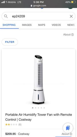 Portable air fan tower for Sale in Corona, CA