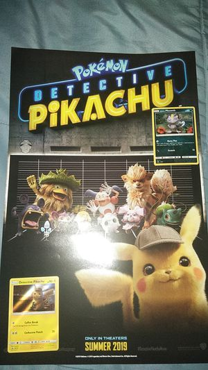 Limited Edition Pokemon Cards Detective Pikachu for Sale in Victorville, CA