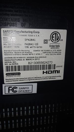 Sanyo tv for Sale in Hutchinson, KS
