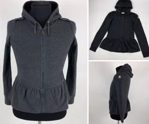 Women's MONCLER Maglia Cardigan Hooded Jacket Gray Size S for Sale in Chicago, IL